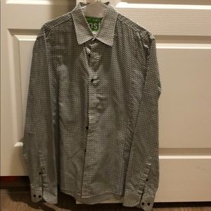 Hugo Boss Geometric Pattern Button up